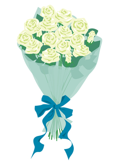 Roses bouquet White