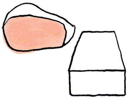단백질 고기와 두부