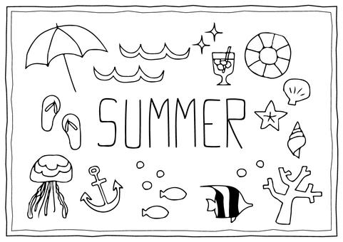 Summer illustration (sea)