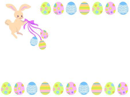 Easter egg and rabbit frame 2
