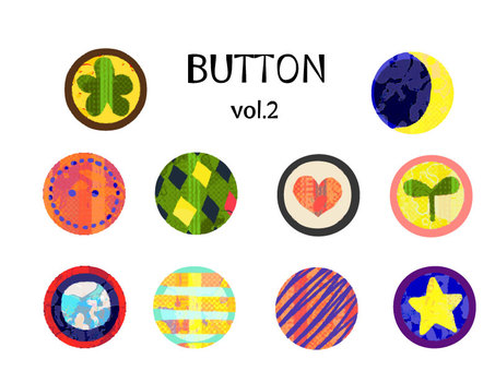 """Colorful"" button Various - that 2 -"