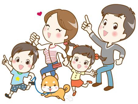 家族(ワンコとお散歩)
