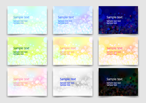 Colorful round abstract background material texture set
