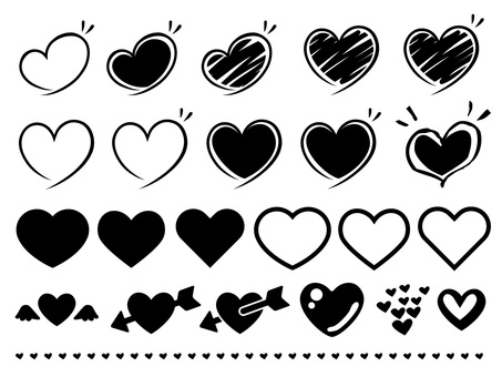 Simple Heart · Hand-drawn Material Collection Set
