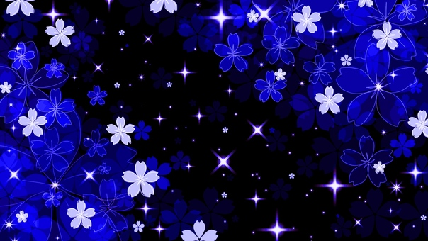 Light up style night cherry tree (blue)