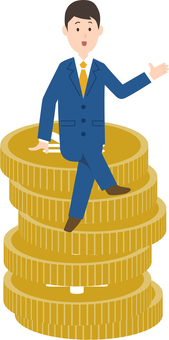 Image of businessman and money