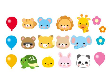 Cute animal illustrations for nurseries