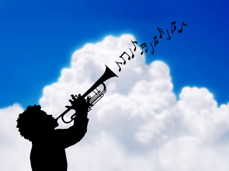 Clouds and trumpeters