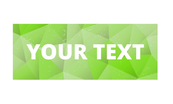 Banner - Polygon - Green