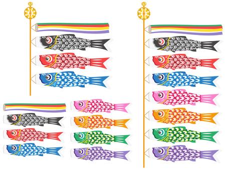 Set of carp streamers