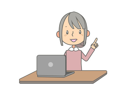 在筆記本電腦上工作的女高管