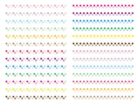 Polka dot decorative line