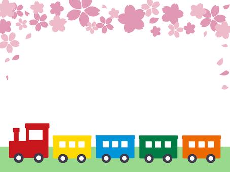 기차와 벚꽃