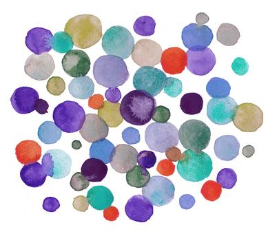 Watercolor dot pattern-purple