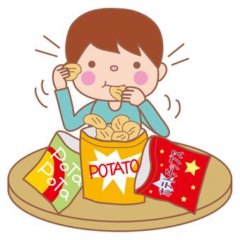 Children who eat potato chips