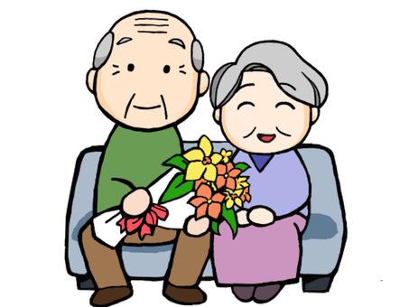 Old couple bouquet
