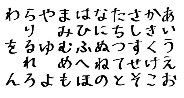 Hiragana Japanese syllabary marker pen