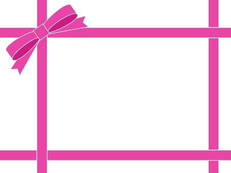 Pink ribbon frame