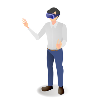 Men wearing VR goggles