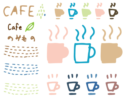 Cafe _ material set 01