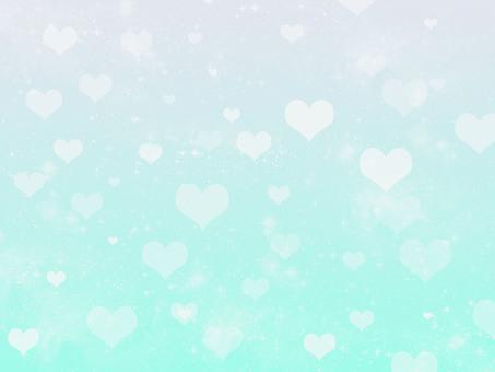 Glittering heart background