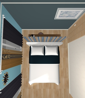 4LDK ① Bedroom (3D stereo · from the top)
