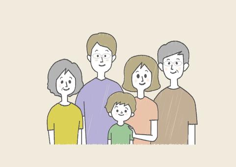 親子5人半袖