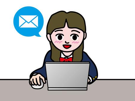 パソコン操作(214)Eメール女子高生