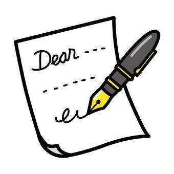 Fountain pen pen letter