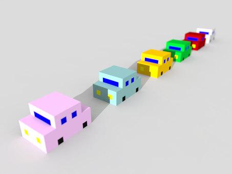 汽車CG插畫背景素材2