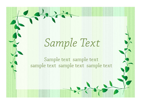 Message card / leaf / green