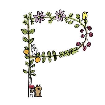 Flower text P