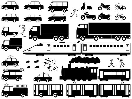 Vehicles - black version