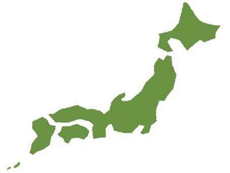 Japan Map Handwriting Wind 1