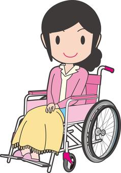 Women sitting on wheelchairs