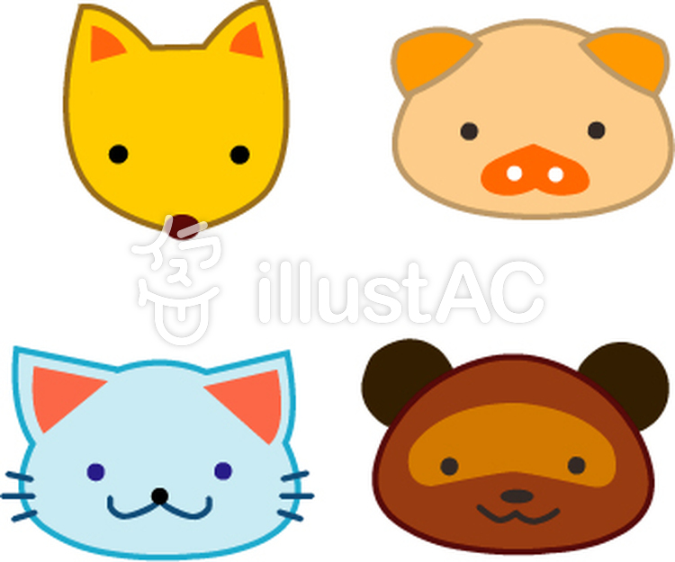 動物ブタたぬき狐猫イラスト No 276893無料イラストならイラストac