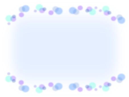 Polka dot pattern Blue frame material