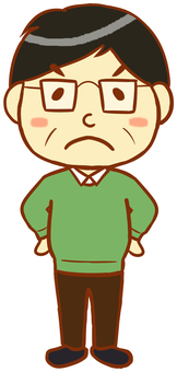 Middle-aged man (anger)