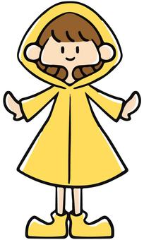 A girl wearing a yellow kappa