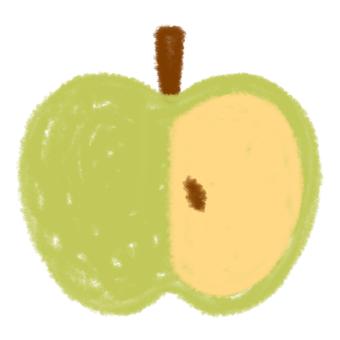 Green apple (half) 2