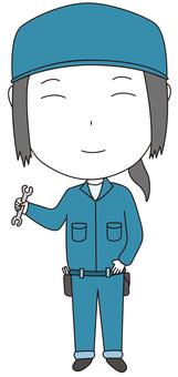 Mechanic woman