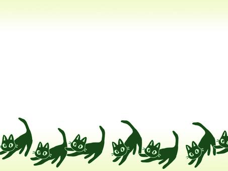 Cat frame (green)