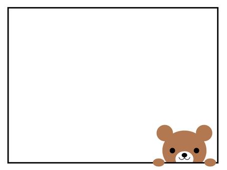 곰 메모 프레임 동물