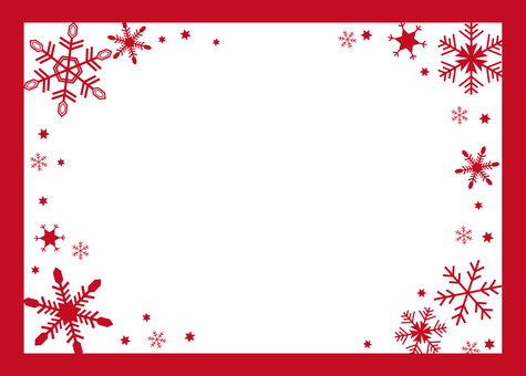 Snow crystal frame (red)