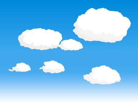 흰 구름 떼