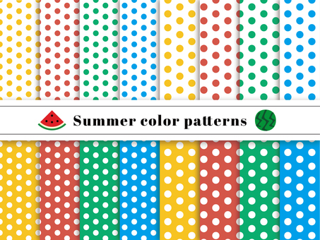 Dot pattern swatch summer color