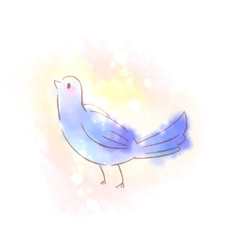 Blue birds of happiness