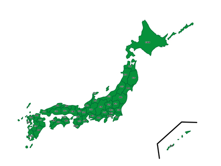 Japan map 10 prefecture name yes
