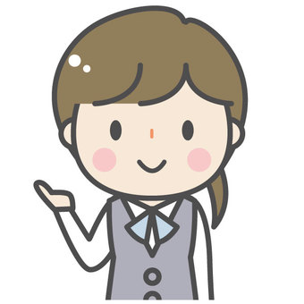 Cute female company worker OL bank clerk