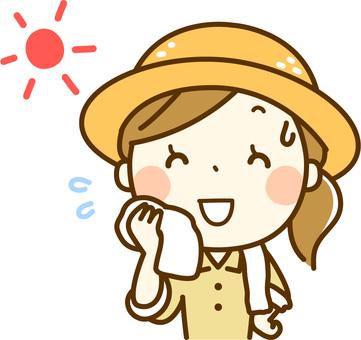 Farmer's woman _ Wipe sweat